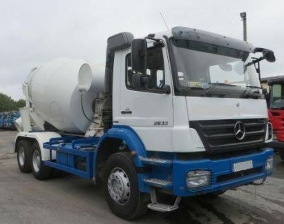 Used Mercedes Axor 2633 Concrete Mixer Mercedes 6 Cylinder Diesel 2010 Model RHD